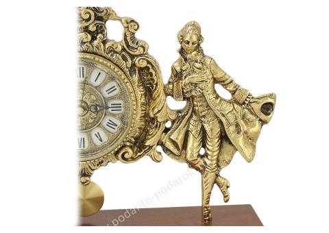 """Часы каминные """"Пастораль-2"""" фигурные с маятником"""