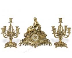 """Часы каминные """"Маленькая Леди"""" с 2 канделябрами на 5 свечей"""