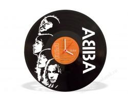 Часы из виниловой пластинки Abba