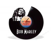 Часы из виниловой пластинки Bob Marley