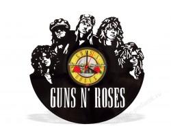 Часы из виниловой пластинки Guns N' Roses