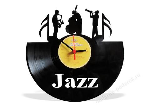 Часы из виниловой пластинки Jazz