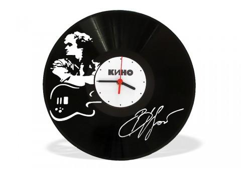Часы из виниловой пластинки Виктор Цой