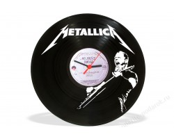 Часы из виниловой пластинки Metallica
