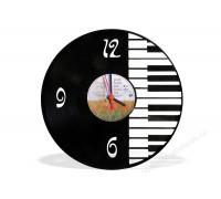 Часы из виниловой пластинки Piano