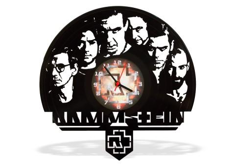 Часы из виниловой пластинки Rammstein