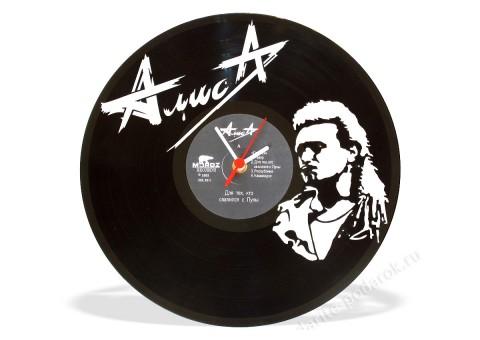 Часы из виниловой пластинки Алиса