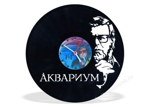 Часы из виниловой пластинки Аквариум