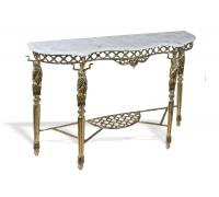 """Консольный столик """"Дон Луиш"""" мраморная столешница"""