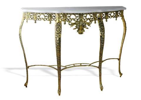 """Консольный столик """"Коро ду Рей"""" мраморная столешница"""