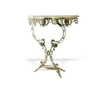"""Консольный столик """"Бикош"""" мраморная столешница"""