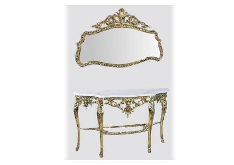 """Консольный столик """"Конша"""" элитный мраморная столешница"""