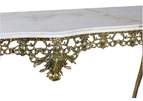 """Консольный столик """"Дуэ Кватро"""" мраморная столешница"""