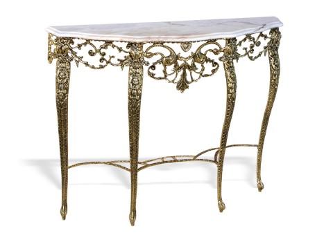 """Консольный столик """"Трио"""" мраморная столешница"""