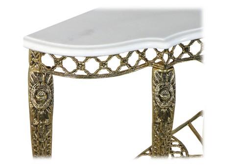 """Консольный столик """"Рендада"""" мраморная столешница"""