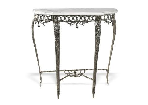 """Консольный столик """"Рэтта"""" мраморная столешница"""