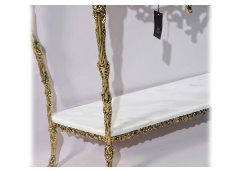 """Консольный столик """"Креденсия Дос Тампош"""" с 2-мя мраморными столешницами"""