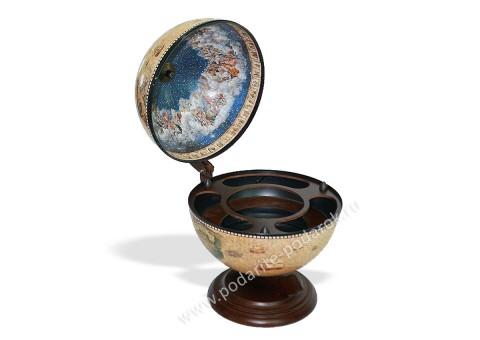 Глобус-бар настольный D 33 см светлый небесная сфера