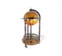 Глобус-бар напольный D 33 см коричневый