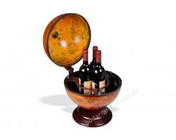Глобус-бар настольный D 33 см коричневый