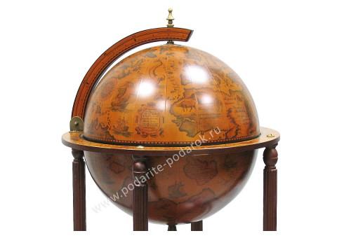 Глобус-бар напольный D 42 см коричневый