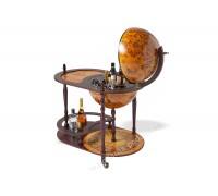 Глобус-бар напольный со столиком D 42 см коричневый