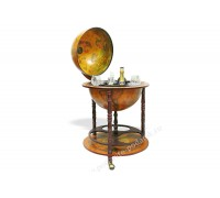 Глобус-бар напольный D 45 см коричневый