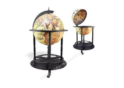 Глобус-бар напольный D 45 см светлый