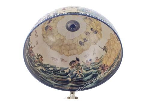 Глобус-бар настольный D 33 см белый