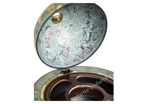 Глобус-бар напольный D 40 см Да Винчи голубой