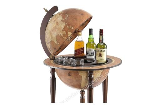 Глобус-бар напольный D 40 см Да Винчи