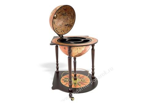 Глобус-бар напольный со столиком D 40 см Караваджо угловой