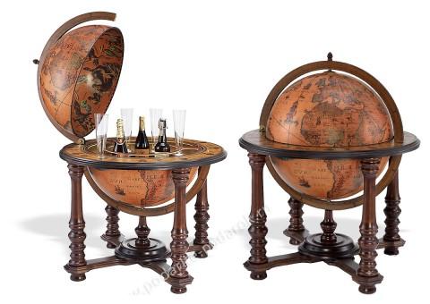 Глобус-бар напольный D 60 см Деметра элитный