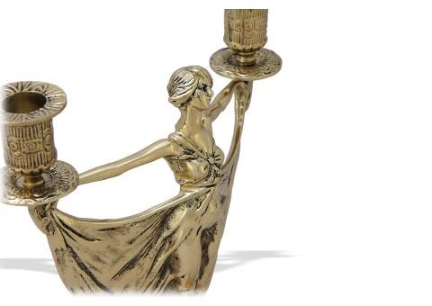 """Канделябр на 2 свечи фигурный """"Балерина"""""""