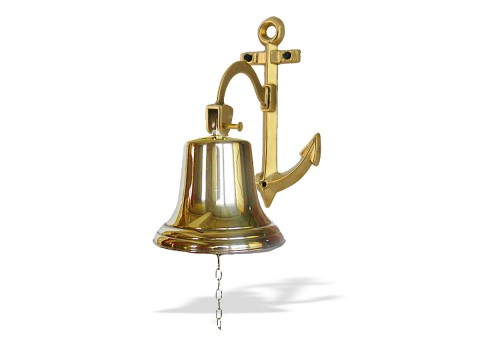 Рында корабельный колокол диаметр 18 см кронштейн Якорь