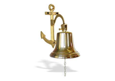 Рында корабельный колокол диаметр 14 см кронштейн Якорь
