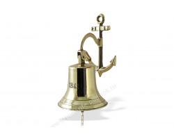 "Рында корабельный колокол ""1841"" диаметр 14 см кронштейн Якорь"