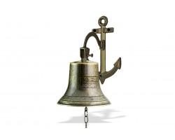 "Рында корабельный колокол ""A.D. 2000"" диаметр 14 см кронштейн Якорь"