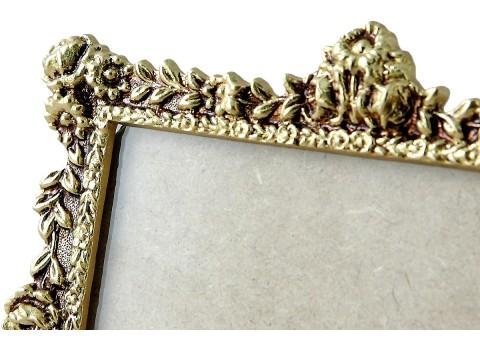 Фоторамка настольная золото 15,5x21