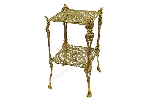 Столик металлический прикроватный квадратный