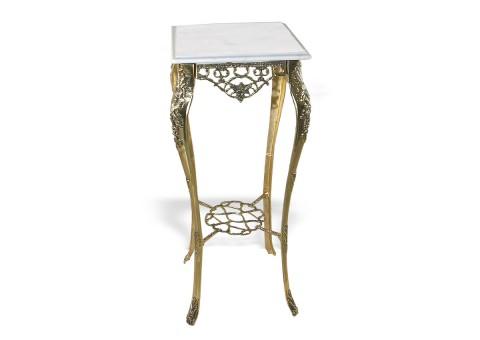 """Столик с мраморной столешницей """"Порту"""" высокий"""