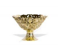 Конфетница ваза латунная