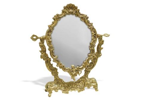 """Зеркало настольное металлическое """"Ракушка"""""""