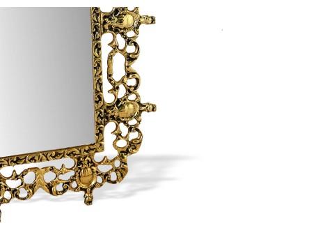 """Зеркало настенное большое """"Коро Ду Рей"""" золото"""