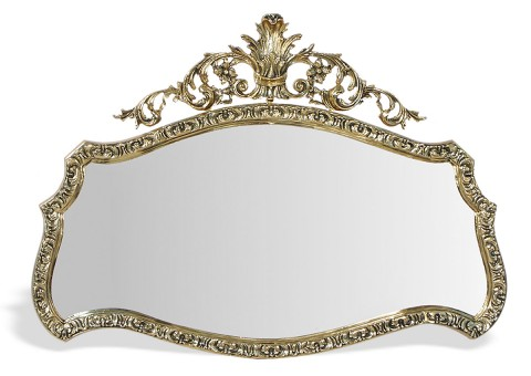 """Зеркало настенное большое """"Конша"""" золото"""