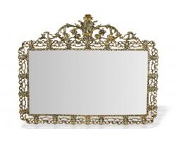 """Зеркало настенное большое """"Дуэ Кватро Си"""" золото"""